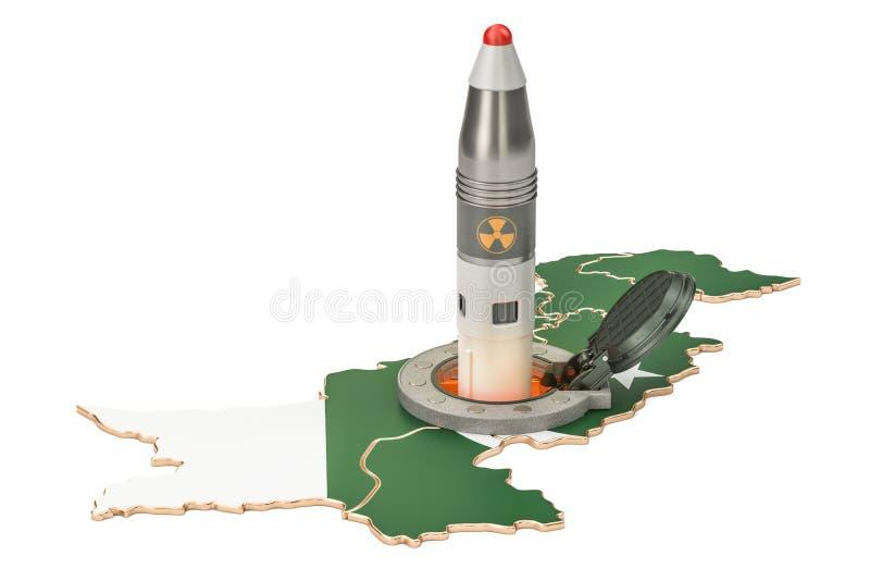 Les lancements pakistanais de missile de son silo souterrain lancent le faci illustration de vecteur