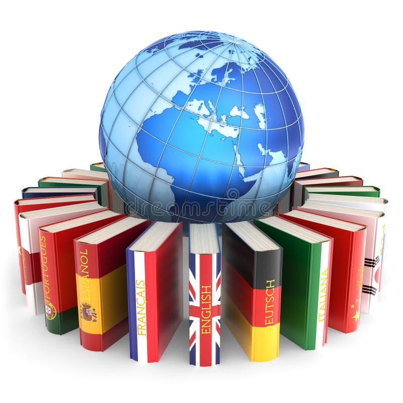 Les langues étrangères apprennent et traduisent le concept d'éducation illustration libre de droits