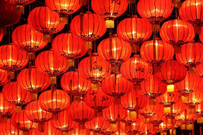 Les lanternes d'an neuf image libre de droits