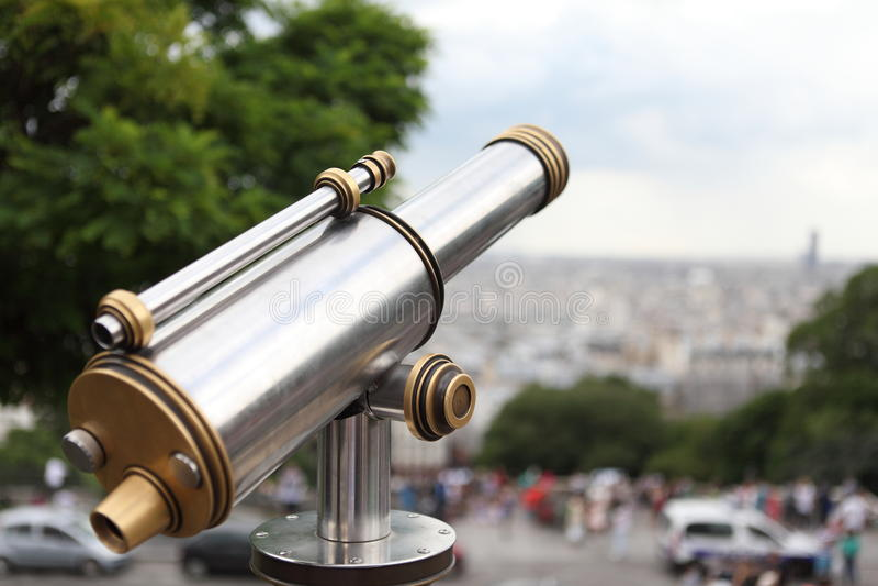 Les lentilles pour voient Paris images libres de droits