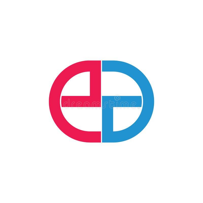 Les lettres abstraites ea ont lié le logo géométrique de cercle illustration de vecteur