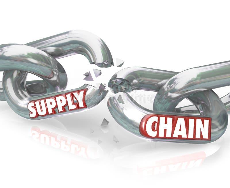 Les liens cassés de chaîne d'approvisionnements ont divisé des relations illustration stock