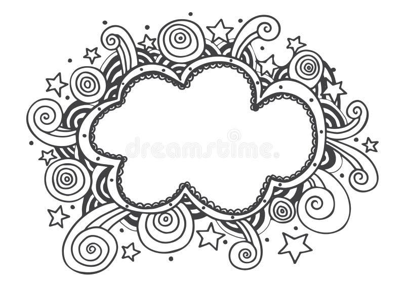 Les lignes cadre de griffonnage de dessin de main conçoit l'illustration de vecteur illustration de vecteur