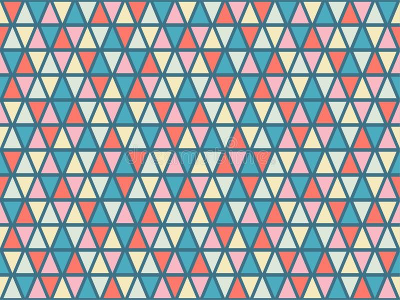 Les lignes tribales de tuiles de mosaïque de grille de triangles dirigent le modèle sans couture illustration de vecteur