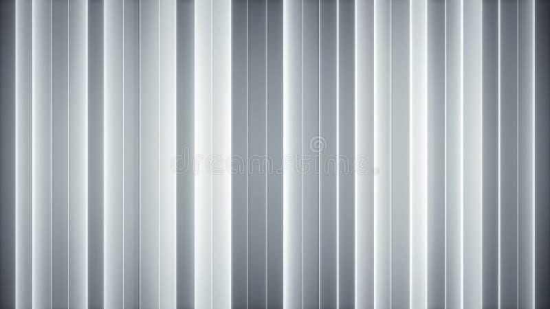 Les lignes verticales blanches rougeoyantes 3D abstrait rendent illustration de vecteur