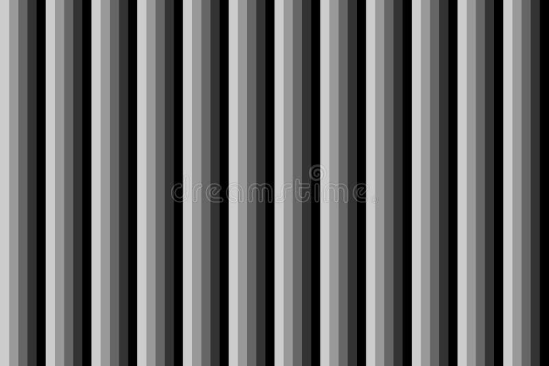 Les lignes verticales effectuent l'aluminium en métal répétant le noir et le fond sans fin d'effet de rangée image stock