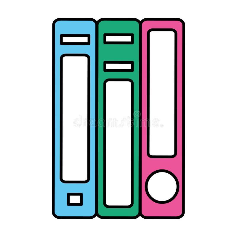 Les livres d'éducation de couleur objectent la connaissance d'école illustration de vecteur