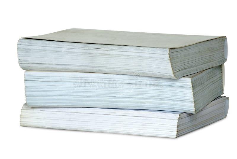 les livres empilent profondément trois photos libres de droits