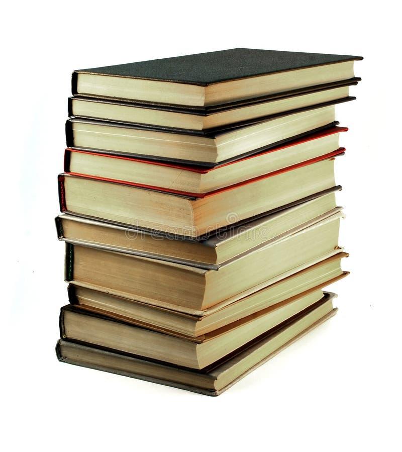 les livres ont isolé le vieux blanc photographie stock libre de droits