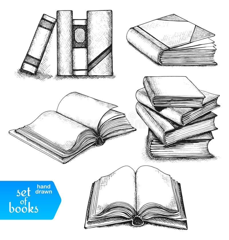 les livres ont placé illustration stock