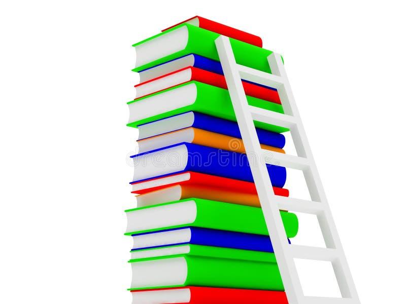 Les livres ont placé trois illustration libre de droits