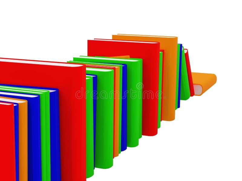 Les livres ont placé un illustration de vecteur