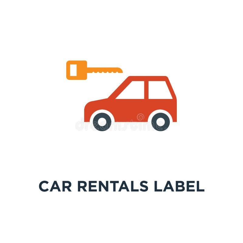 les locations de voiture marquent l'icône conception de symbole de concept, emblème Concep illustration stock
