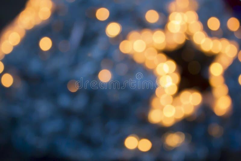 Les lumières de Noël rougeoyantes conçoivent des éléments Guirlandes, effets de la lumière de décorations de nouvelle année photographie stock