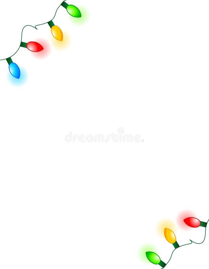 Les lumières encadrent/coins illustration de vecteur