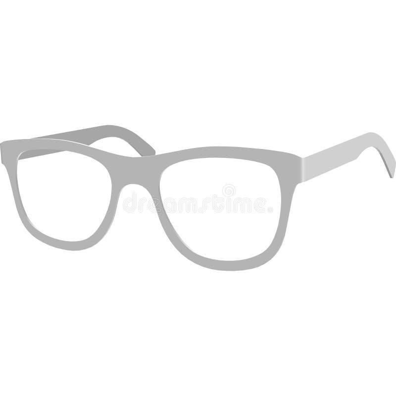 Les lunettes de soleil vue la moquerie, illustration réaliste en verre d'isolement sur le fond blanc avec la vue de perspective illustration stock