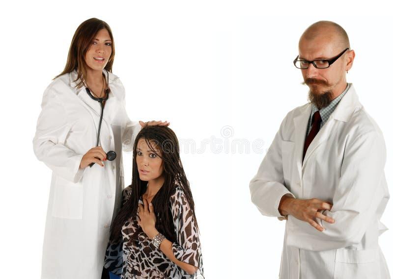 les médecins ont remarqué des jeunes photo stock