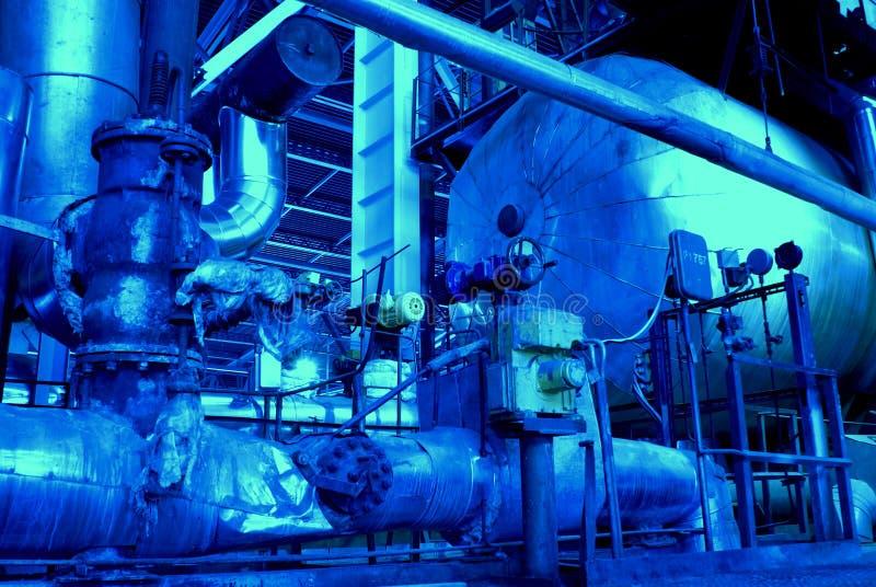 les machines sifflent la turbine de tubes de vapeur photos libres de droits