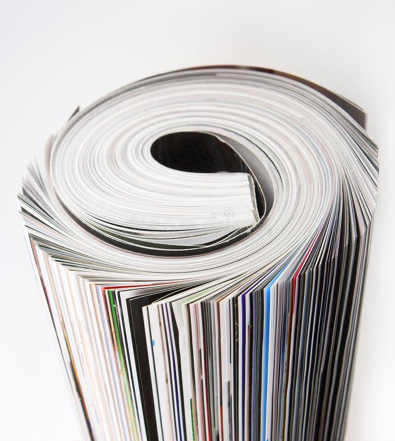 Les magazines se ferment photographie stock