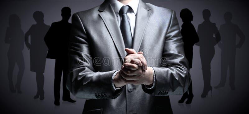 Les mains affermissent l'homme d'affaires photo libre de droits