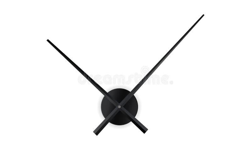Les mains d'horloge raillent vers le haut de d'isolement illustration stock