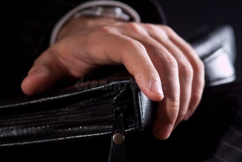 Les mains d'un homme d'affaires photos stock