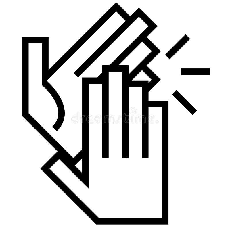 Les mains de applaudissement dirigent l'illustration par des crafteroks illustration stock