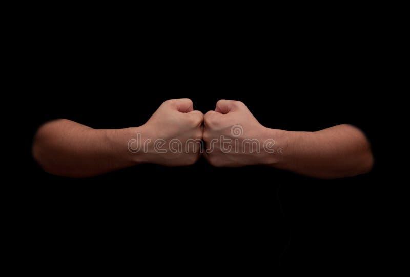 Les mains de l'homme photo stock