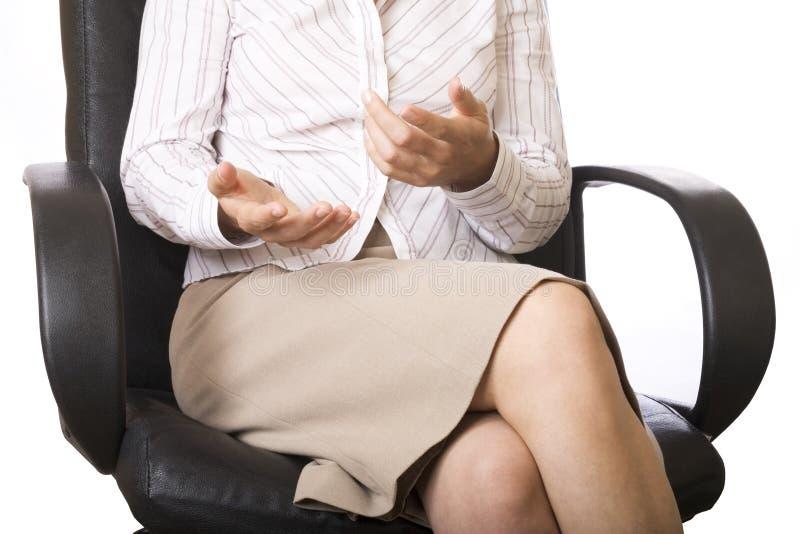 Les mains de la femme d'affaires photo libre de droits