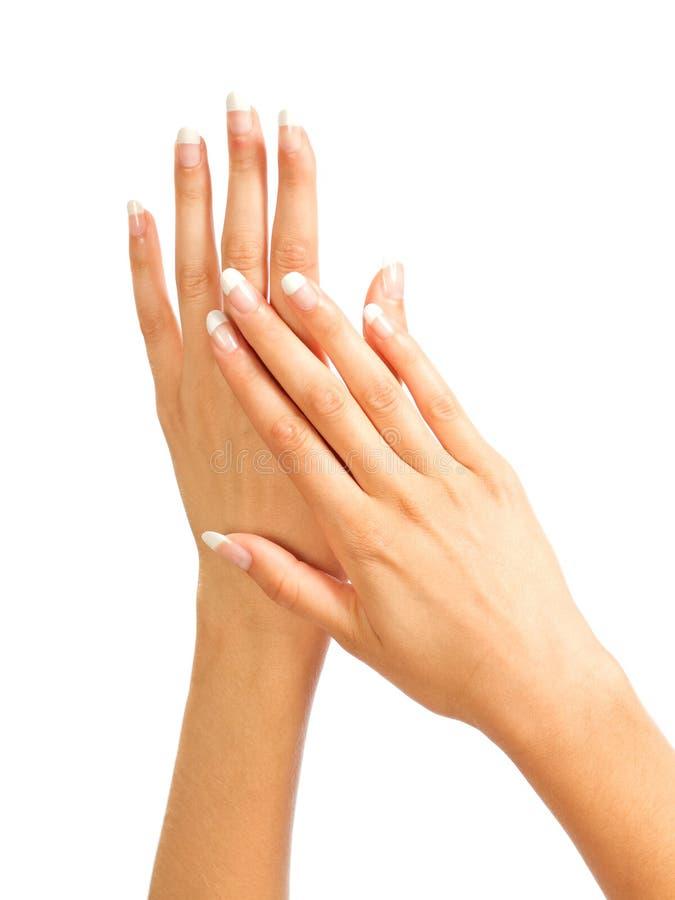Les mains des femmes photo libre de droits