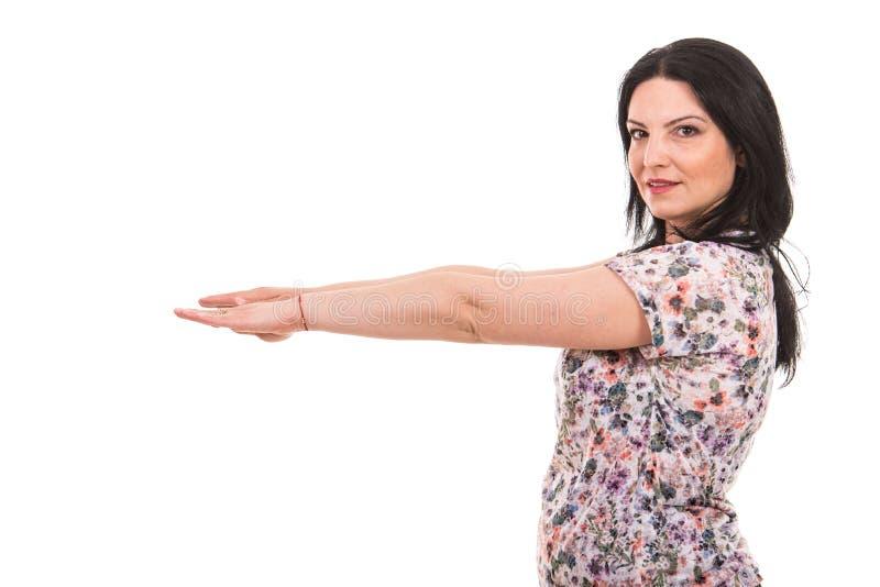 les mains ont tendu la femme photos stock