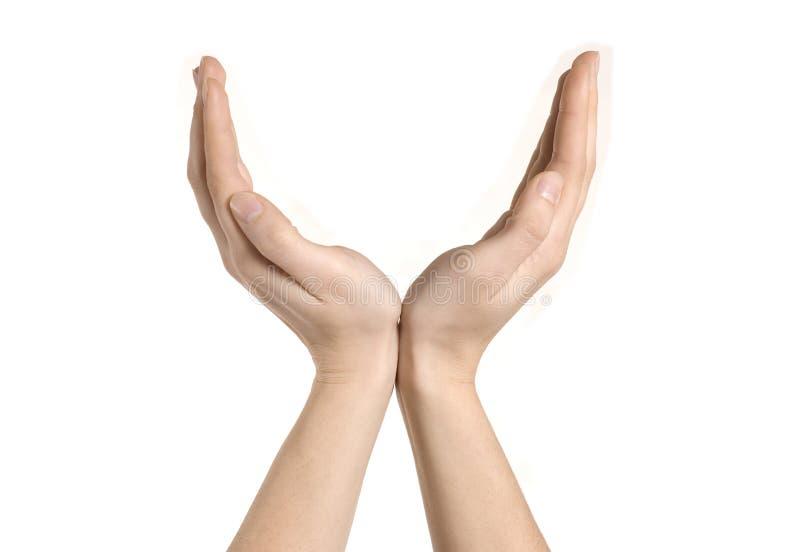les mains s'ouvrent image libre de droits