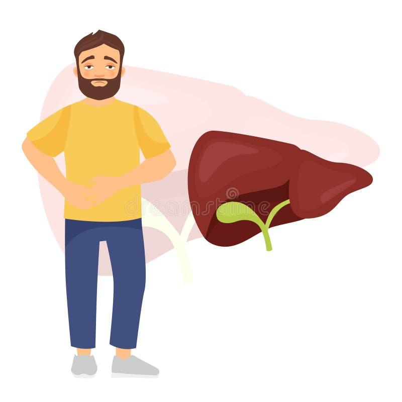 Les maladies de l'estomac illustration de vecteur