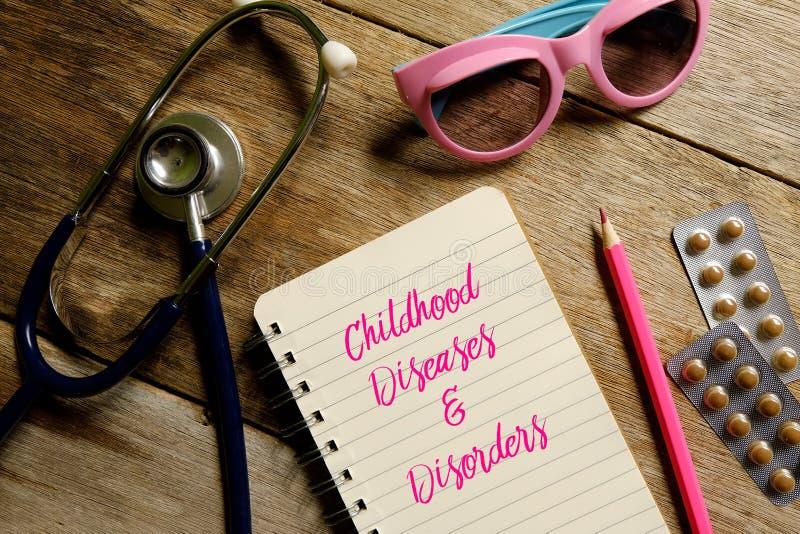 Les maladies et désordres d'enfance photos libres de droits