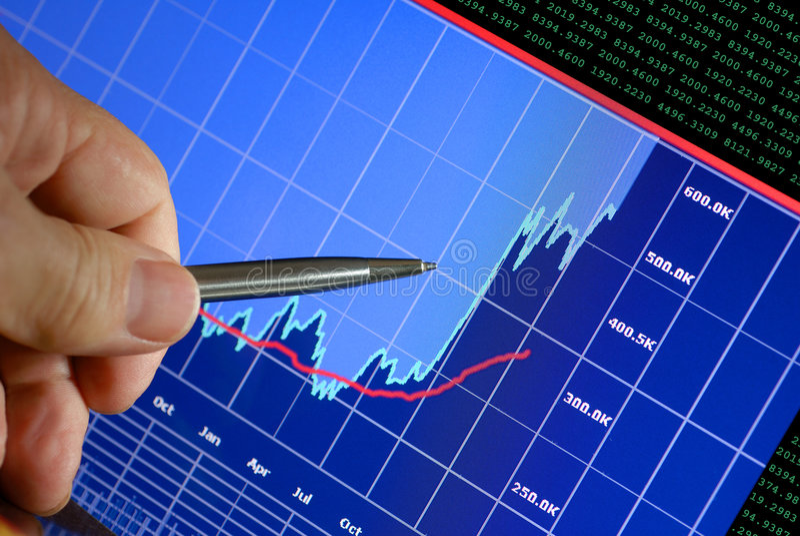 Les marchés montent photos stock