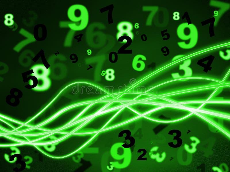 Les mathématiques numérotent des moyens apprennent instruit et numérique illustration libre de droits