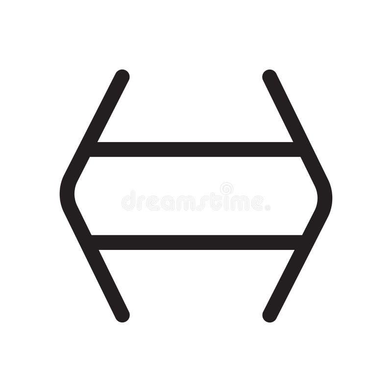 Les maths signent si et le signe et le symbole de vecteur d'icône d'isolement sur le fond blanc, maths signent si et concept de l illustration libre de droits