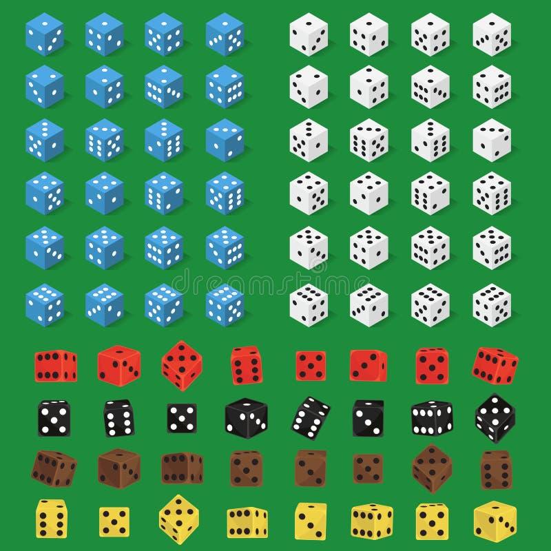 Les matrices désossent l'illustration d'isolement de vecteur illustration stock