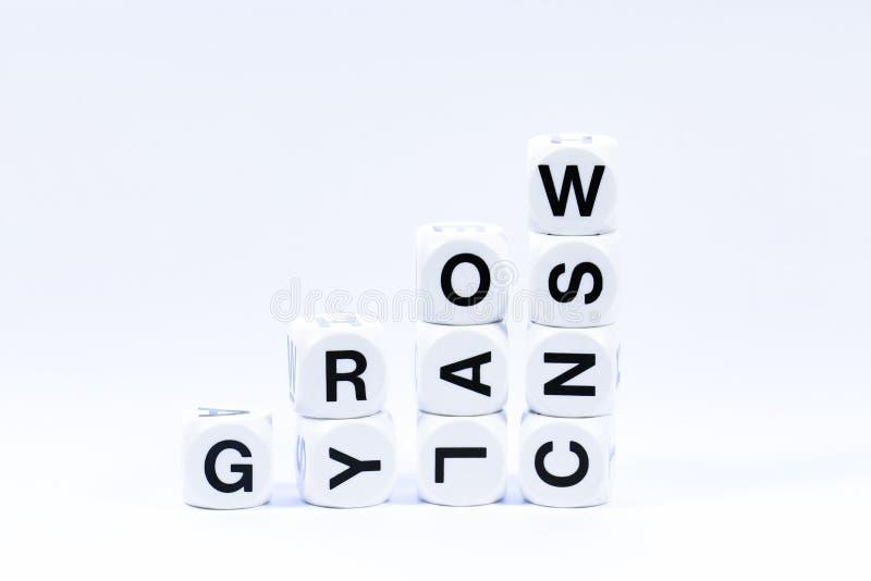Les matrices en lettres définissant le mot se développent photos libres de droits