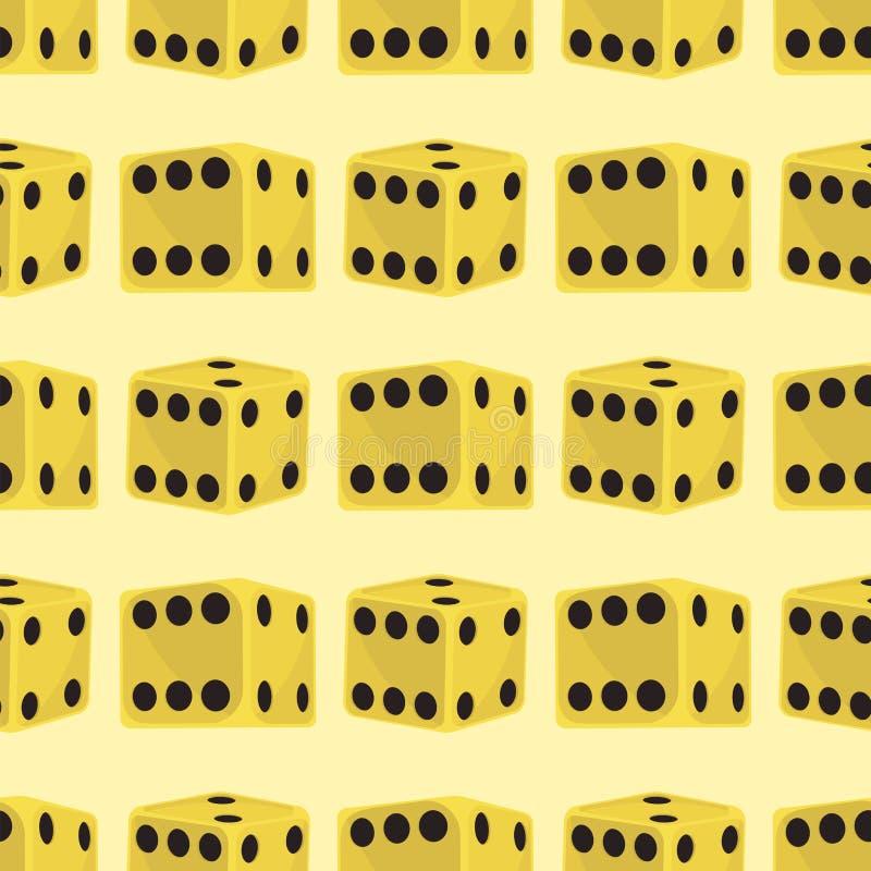 Les matrices isométriques numérotent le casino chanceux de fortune de jeu illustration sans couture de vecteur de cube en jeu de  illustration de vecteur