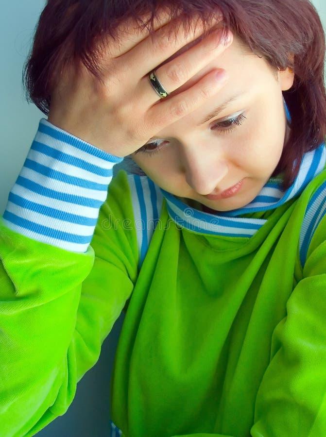 Les maux de tête photographie stock