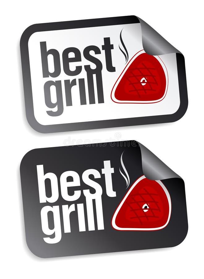 Les meilleurs collants de nourriture de gril. illustration stock