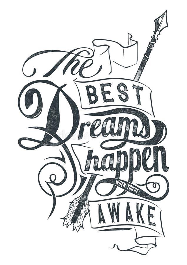 Les meilleurs rêves illustration de vecteur