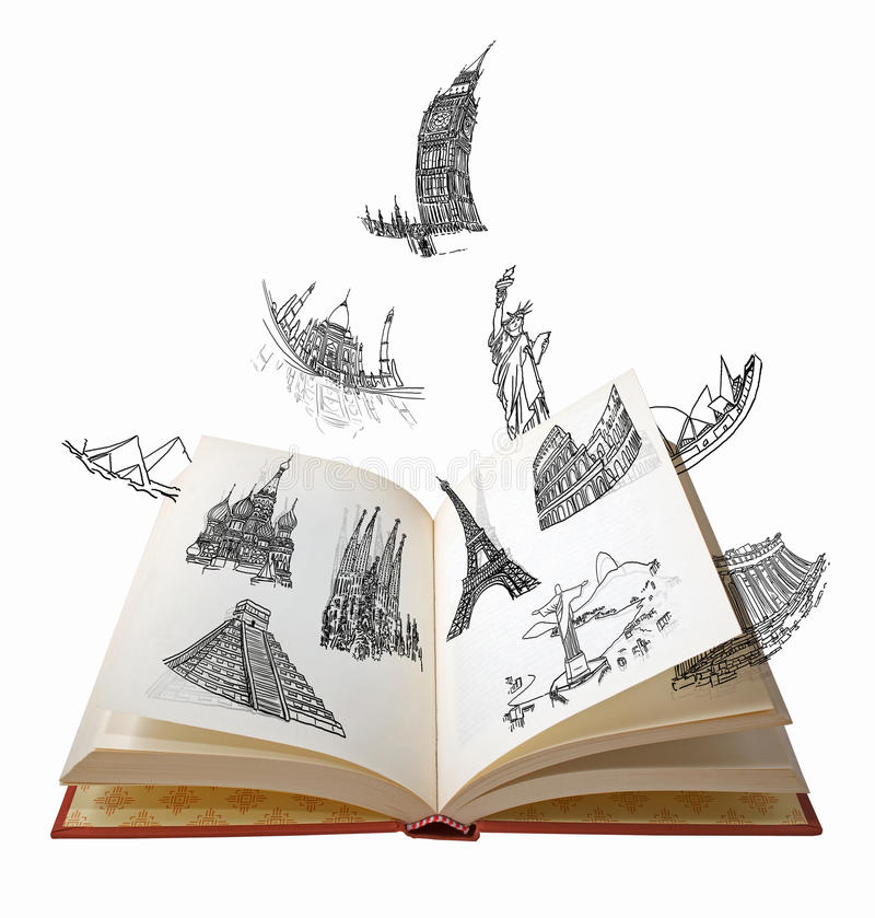 Les merveilles du monde illustration stock