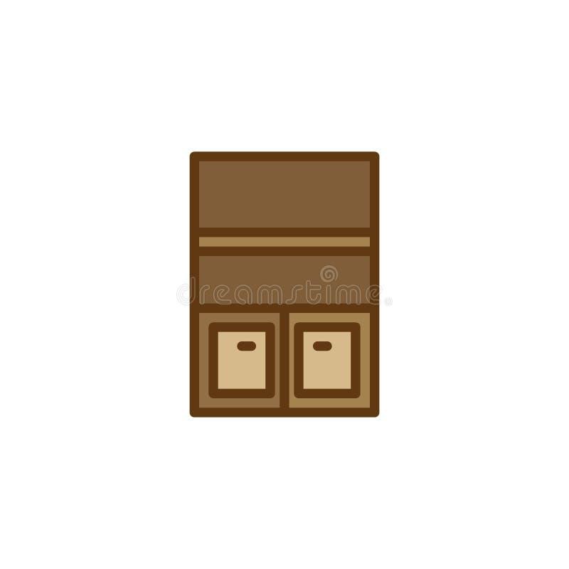 Les meubles de garde-robe ont rempli icône d'ensemble illustration de vecteur