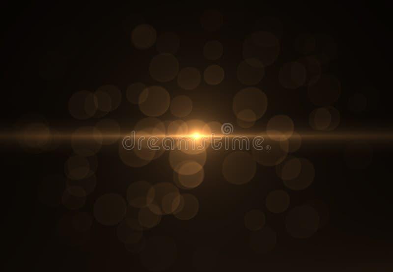 Les milieux abstraits de l'espace s'allume sur le fond noir (la haute résolution superbe) image libre de droits
