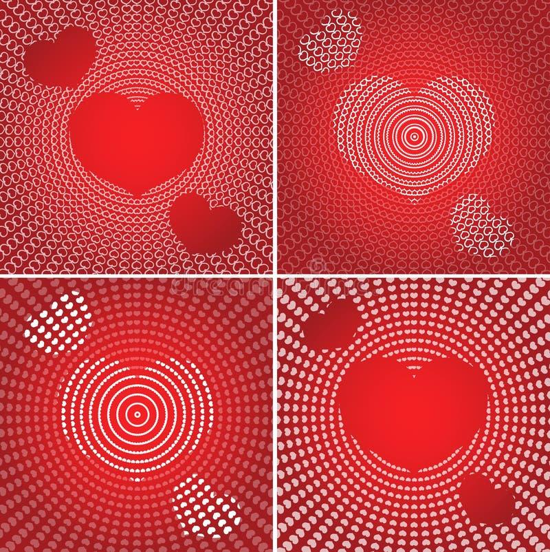 Les milieux de Valentine illustration stock