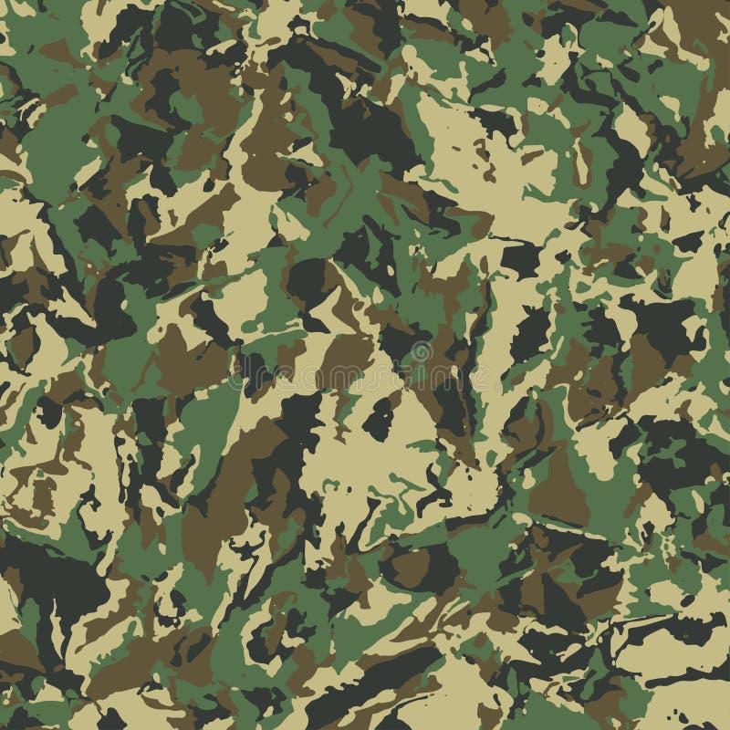Les militaires abstraits camouflent le fond illustration stock