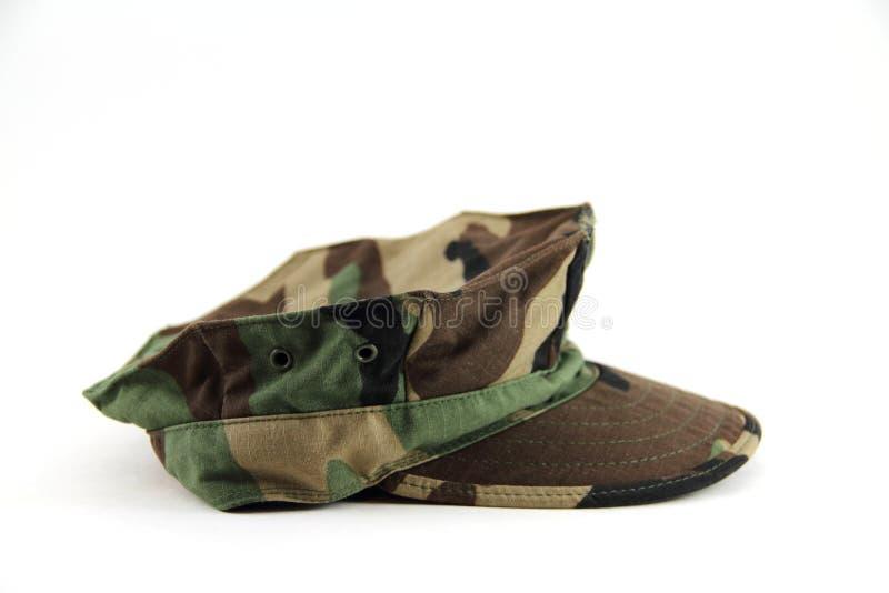 Les militaires camouflent le chapeau image libre de droits