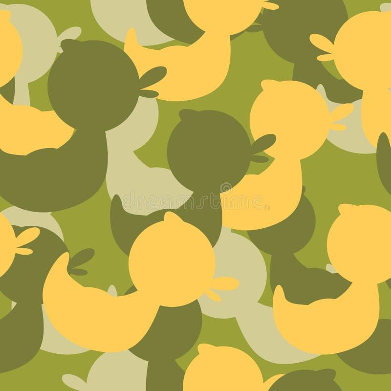 Les militaires camouflent les canards en caoutchouc Texture militaire de vecteur illustration libre de droits